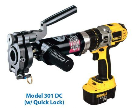 Model 301 DC Battery Operated - Tube Squaring machine
