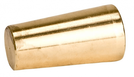 Tapered Plug In Brass
