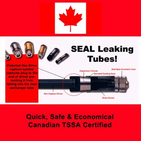 Heat Exchanger Tube Plugs with CRN, Justram Canada