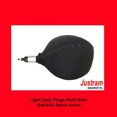 Inflatable Pipe Plug stopper with ballistic nylon cover, Light Duty, Justram Canada