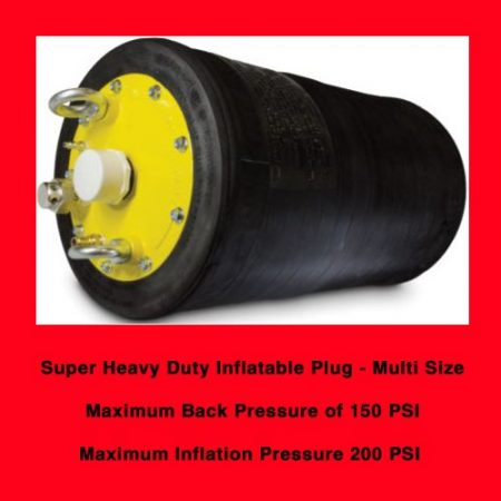 Justram Super Heavy Duty Inflatable Plugs rated to 150 PSI